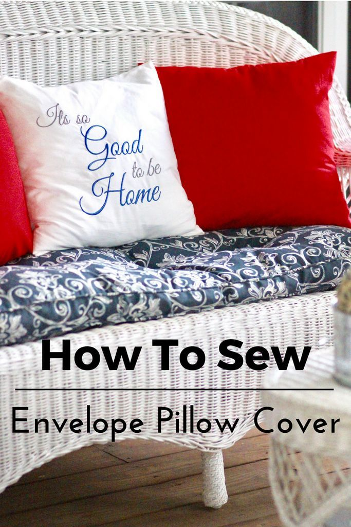 Sew An 40 Inch Envelope Pillow Cover Tutorial For The Love Of Home Unique Load Pillow Covers