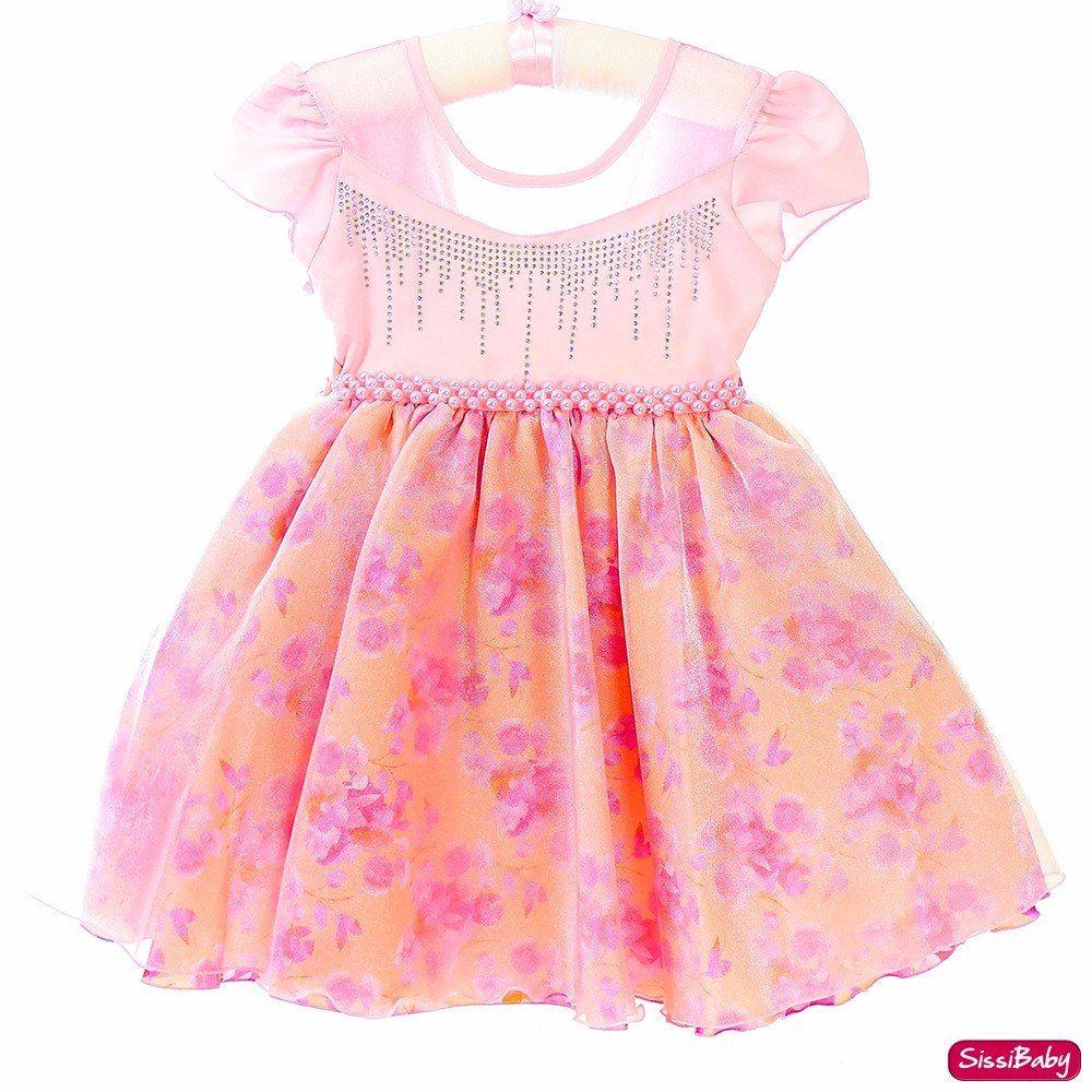 1c46930fc3 Vestido Infantil Floral Rosa Luxo Princesa 4 A 12 Promoção - R  79 ...