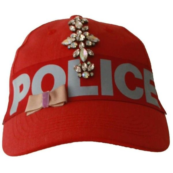 Pre-owned Rare B-Égoiste Police Paste Ribbon Embroidered Baseball Cap. 7c8f35f00104