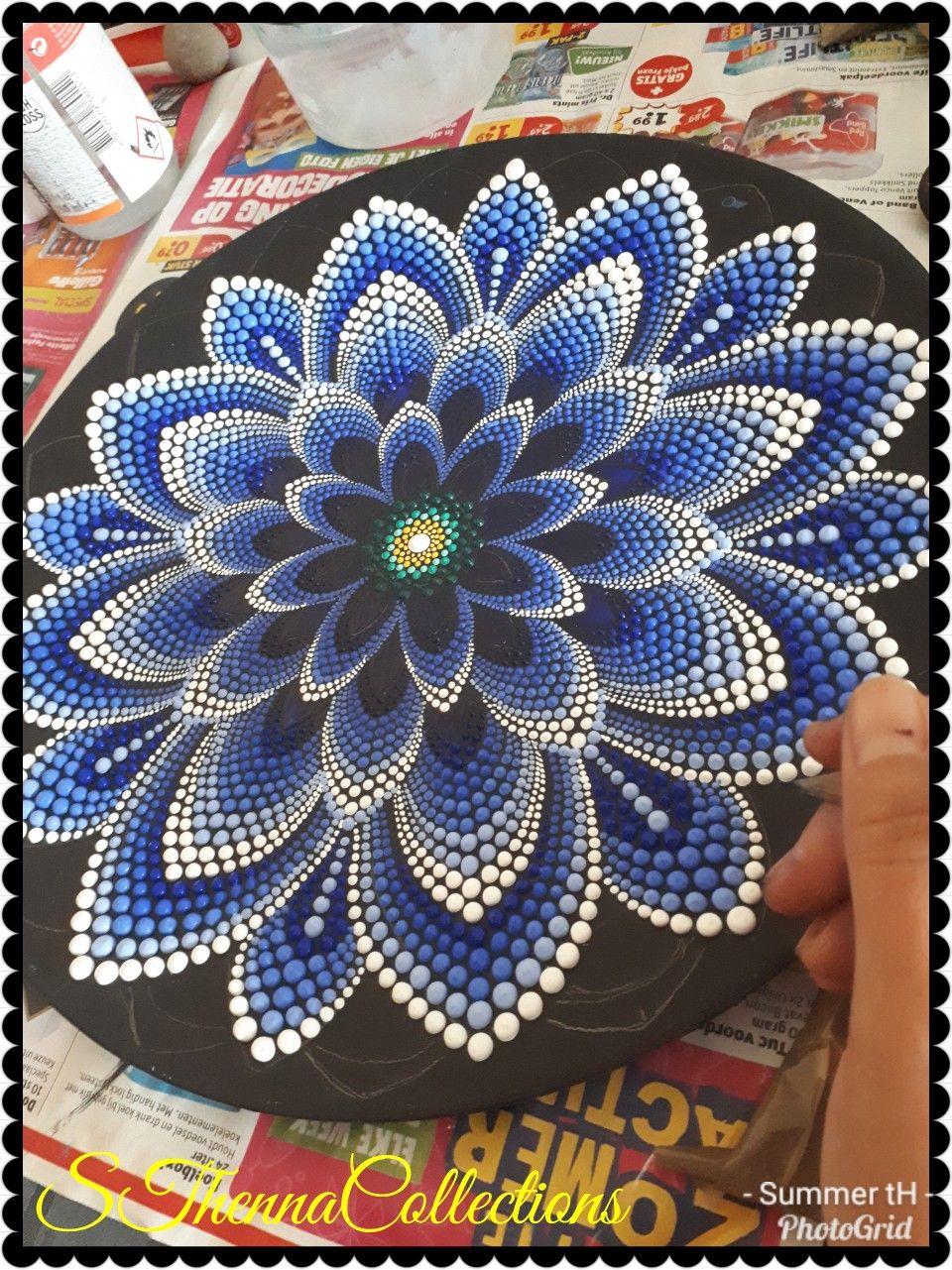Pin von Joyce Knight auf Rock mandalas and point | Pinterest | Leinwand