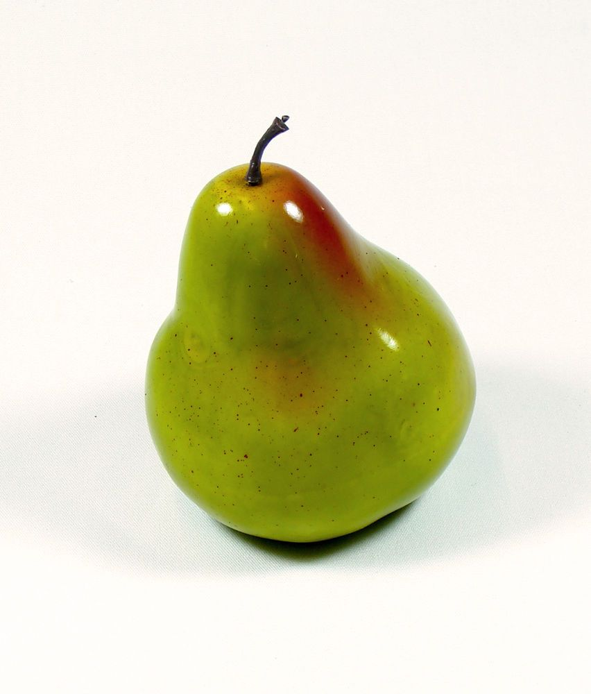 Artificial Pear Large - Plastic Decorative Fruit Green Pears Fake