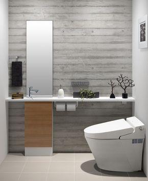 Lixil トイレ トイレ手洗い キャパシア 施工イメージ 0 5坪 手洗器一体型3 トイレ おしゃれ Lixil トイレ トイレ インテリア