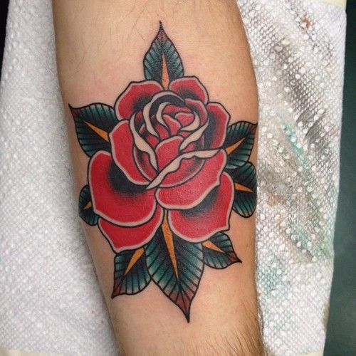 Done By Brad Stevens Traditional Rose Tattoos Traditional Tattoo Rose Tattoos