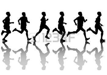 Homme qui court athl tes dessin vectoriel sur course pied dessin tableaux running drawing - Dessin de course a pied ...