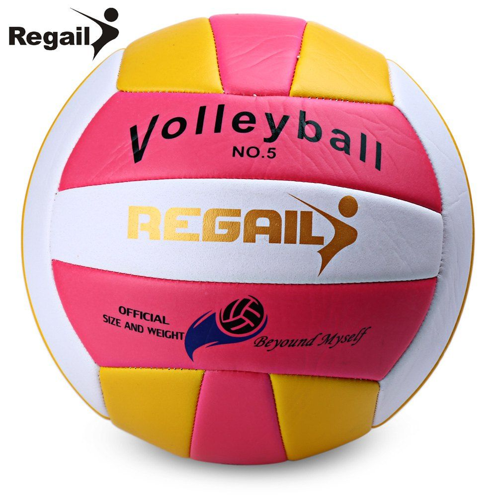 Regail Official Size 5 Weight Volleyball Outdoor Indoor Training Competition Handball Indoor Outdoor Volley Ball 2 Co Volleyball Handball Beach Volleyball Game