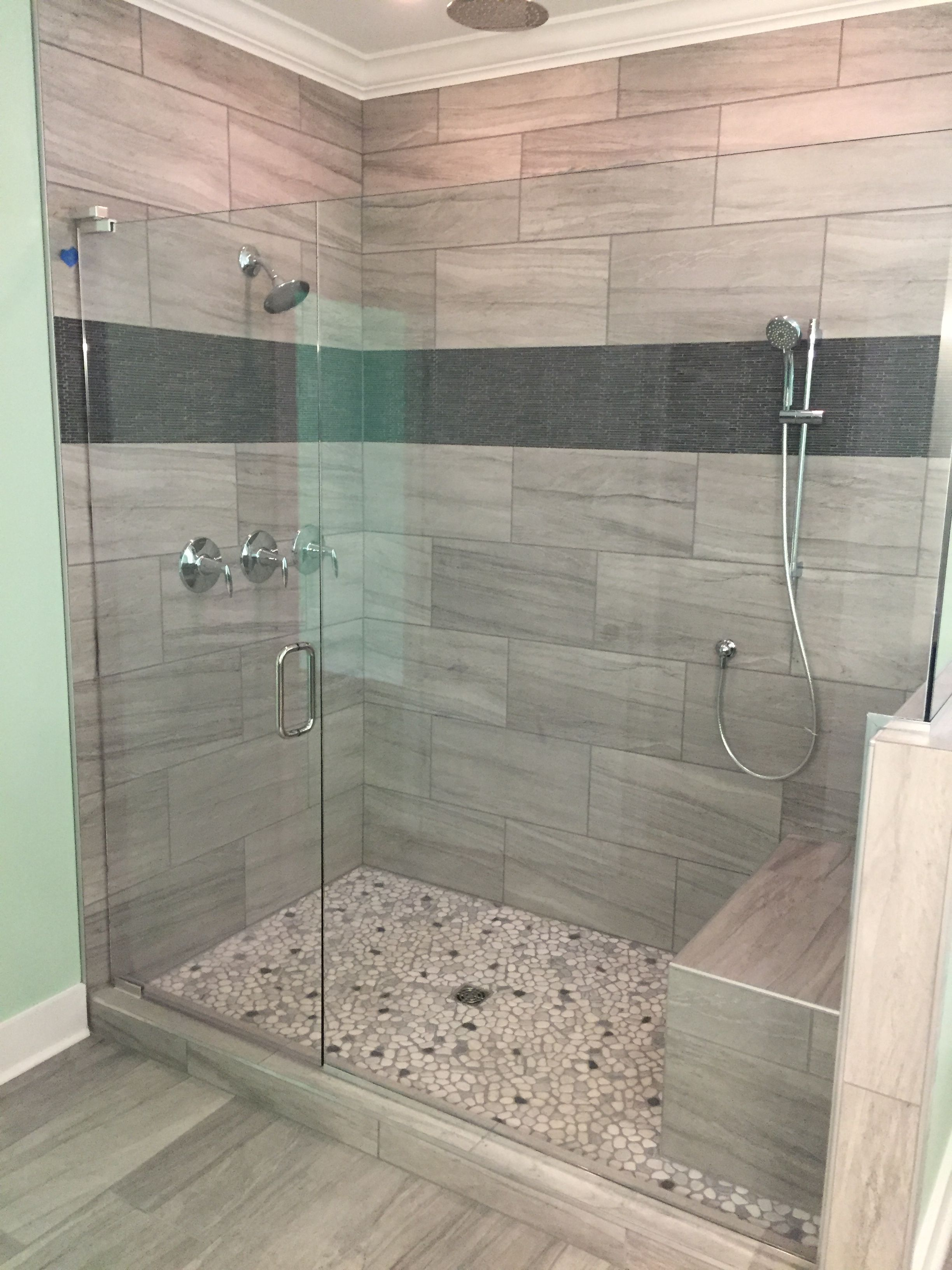Linear design in shower Elegant Accents Tile & Design ...