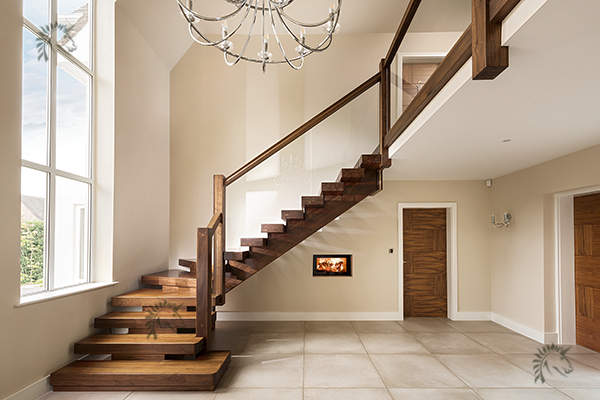 Best Walnut Staircases Black Walnut X Vision Staircase In 640 x 480