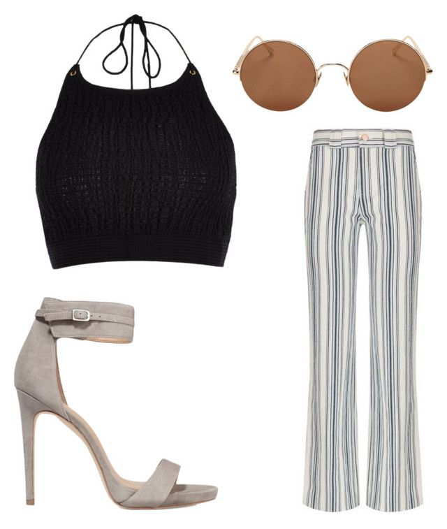 """""""Untitled #5225"""" by ohnadine on Polyvore featuring Halston Heritage, River Island, See by Chloé and Sunday Somewhere"""