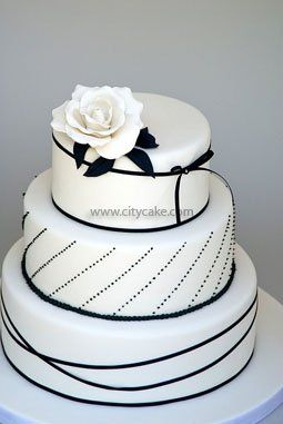 Simple Black And White Cake Black And White Wedding Cake Wedding Cake Colors Black White Cakes