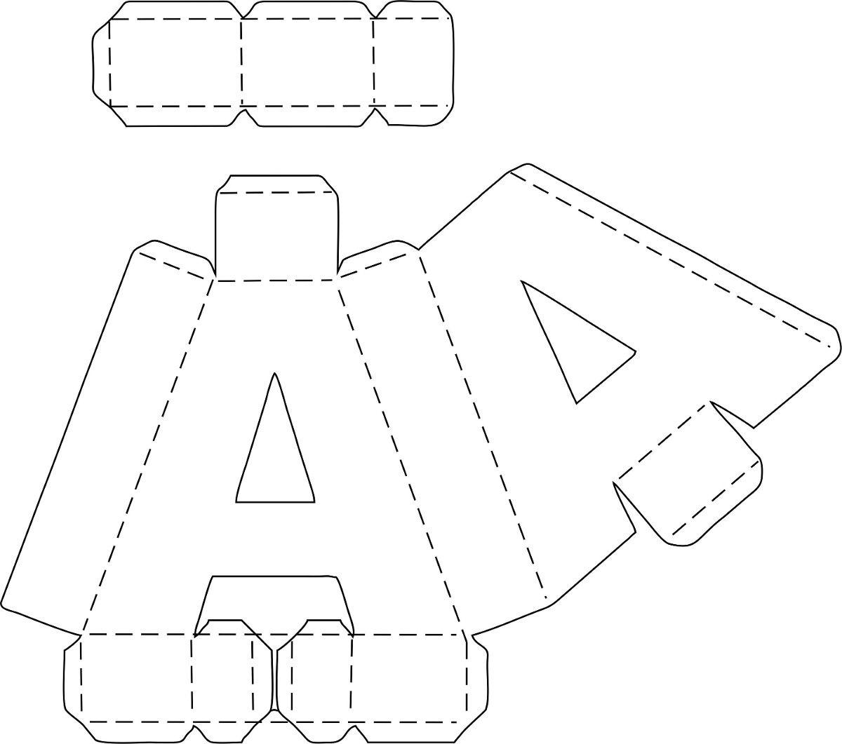 Image image origami alphabet letters origami alphabet instructions - 1 Letras 3d Corte Manual Formatos Png Sgv Pdf E