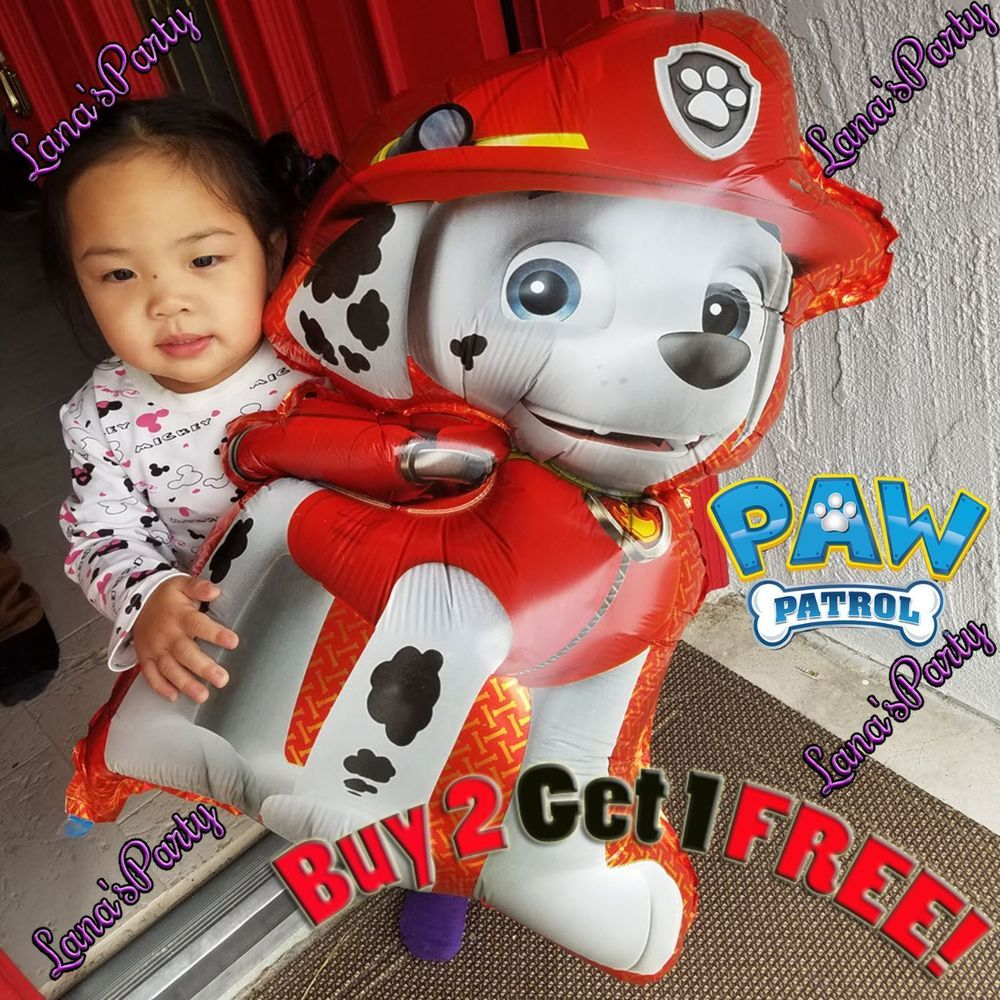 xl marshall paw patrol birthday party patrol balloon red