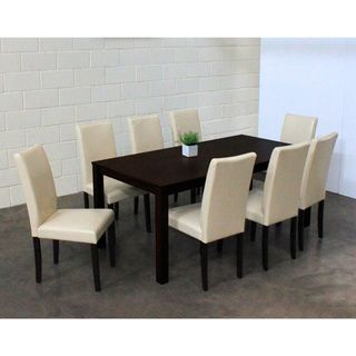 Warehouse Of Tiffany Shino Chalk 9 Piece Dining Set (Shino Chalk 9 Piece Dining  Set), White, Size 9 Piece Sets