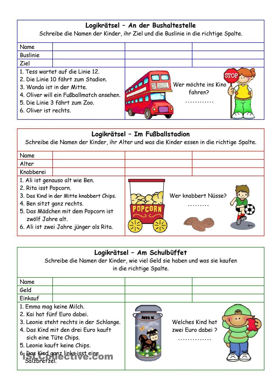 Logikrätsel 03 (+Lösung) | Sprachen | Pinterest | Language, Learn ...