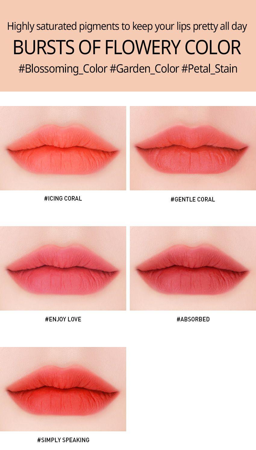 3ce Velvet Lip Tint Enjoy Love Lip Tint Korean Lip Tint Lip