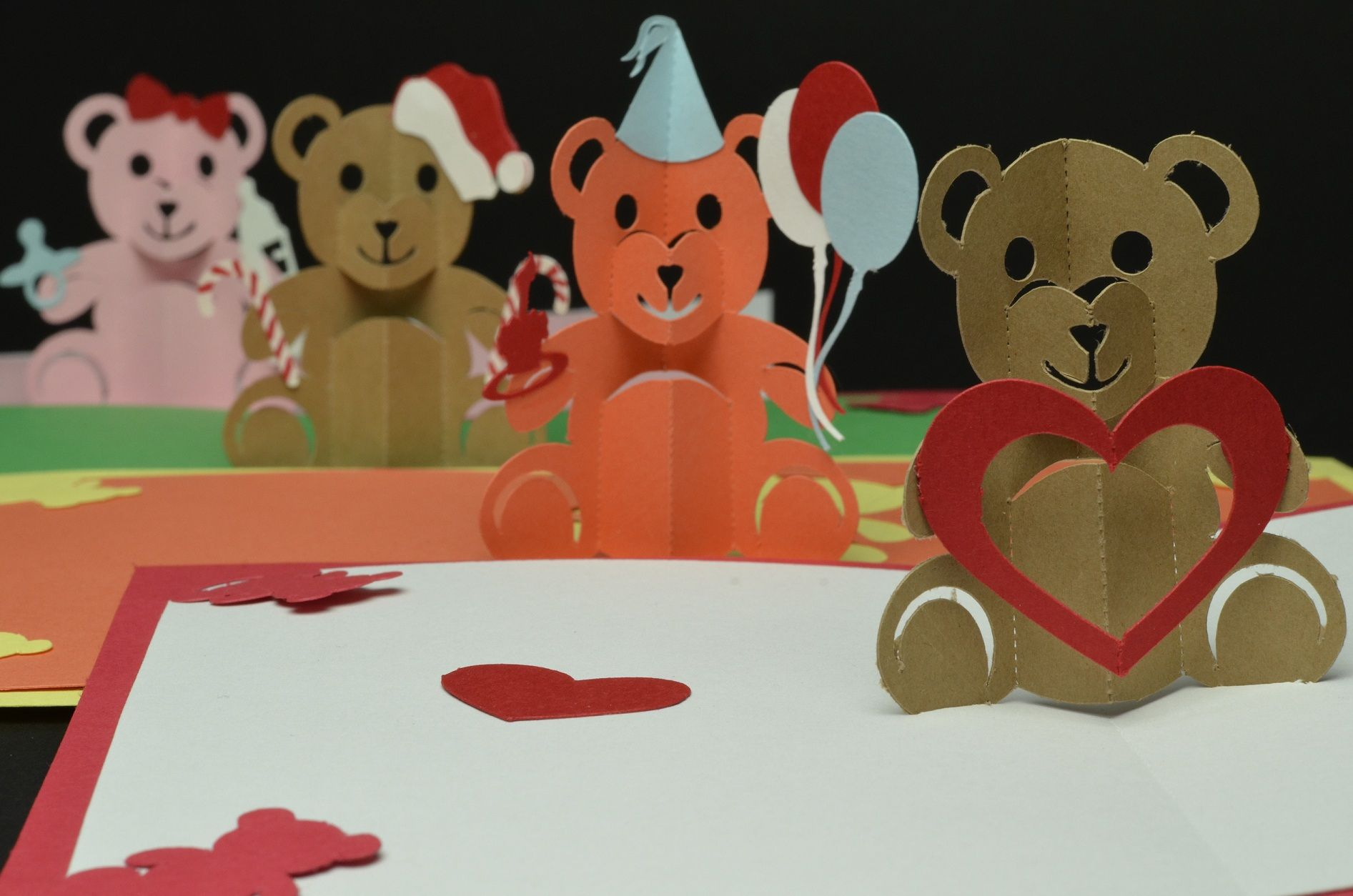 Teddy Bear Pop Up Card Valentines Day Birthday Christmas With Regard To Teddy Bear Pop Up Card Tem In 2020 Pop Up Card Templates Pop Up Valentine Cards Pop Up Cards