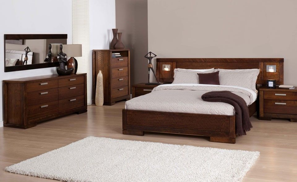 Dylan Australian Oak Bed Stained Timber Forty Winks Furniture