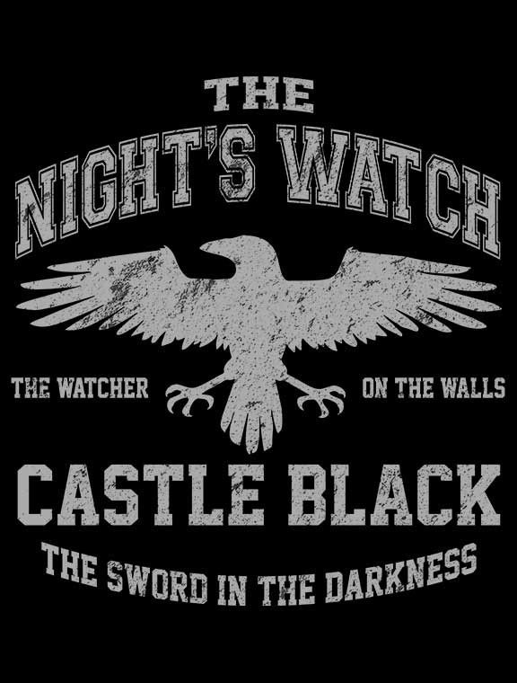 WATCHER ON THE WALLS T-Shirt $12 Game of Thrones tee at Once Upon a Tee!