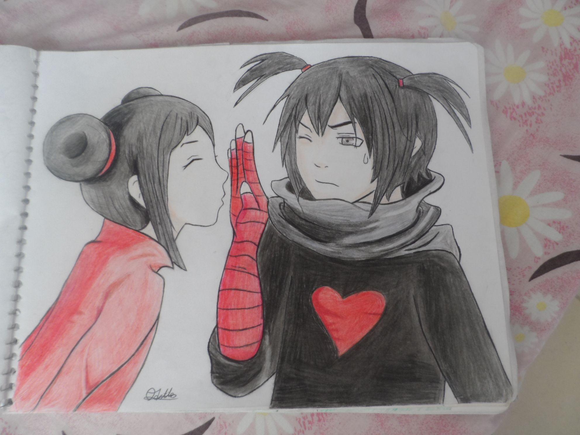 Este Es Un Dibujo A Colores De Pucca Y Garu En Versión Anime Pucca