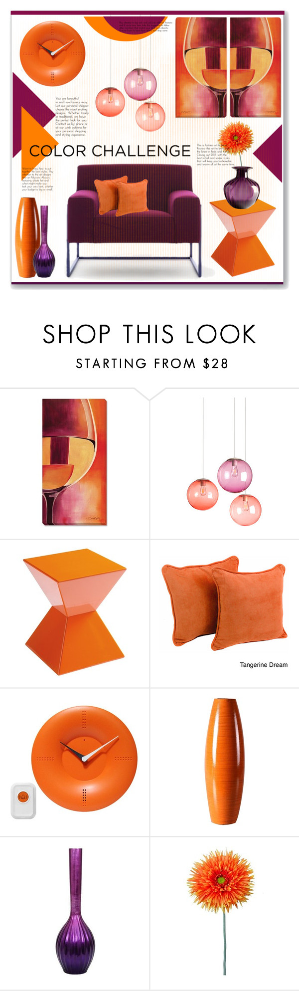 """Orange & purple"" by bogira ❤ liked on Polyvore featuring interior, interiors, interior design, home, home decor, interior decorating, Grandin Road, Fatboy, Sunpan and Blazing Needles"