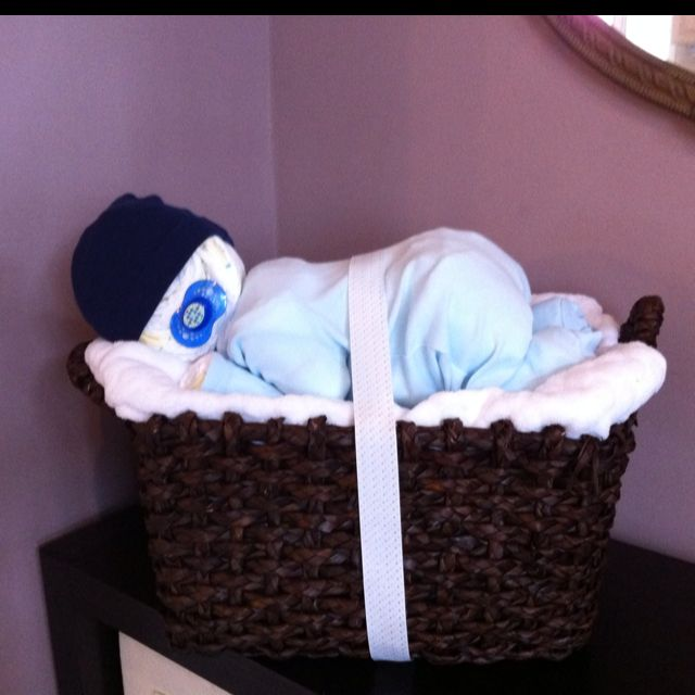 baby made out of diapers
