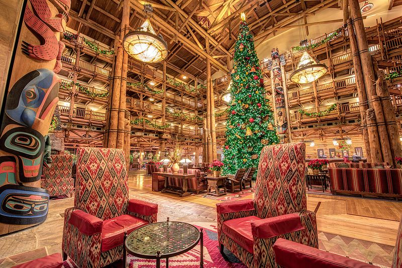 The Wilderness Lodge at Xmas