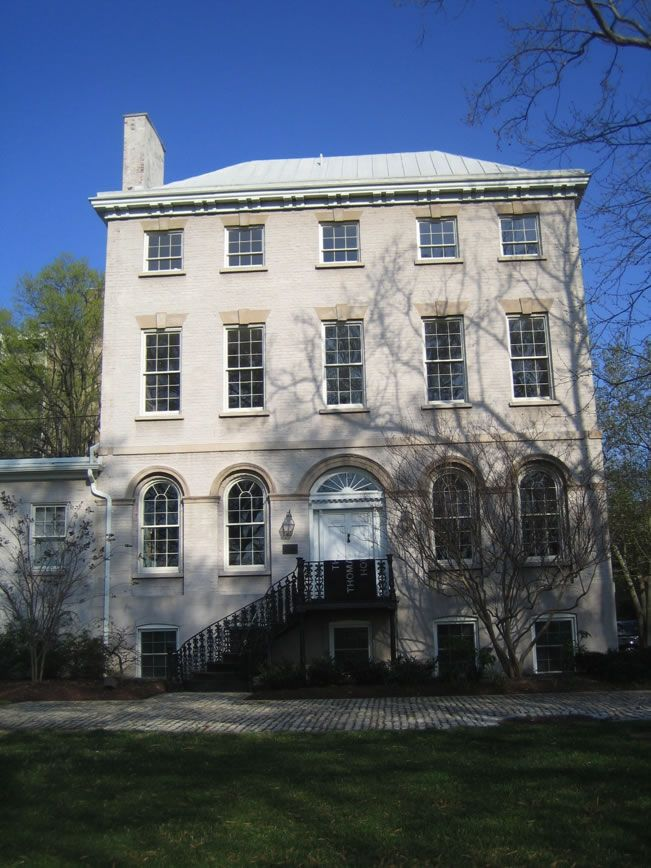 The Thomas Law House was built in 1795 in Washington, D.C. The builder was James Greenleaf, an early land speculator in the District of Columbia. The mansion was built by Greenleaf for Thomas Law. Law was the son of Edmund Law, the Bishop of Carlisle. Law inhabited the home with his wife, Elizabeth Parke Custis, who was the oldest granddaughter of Martha Washington.