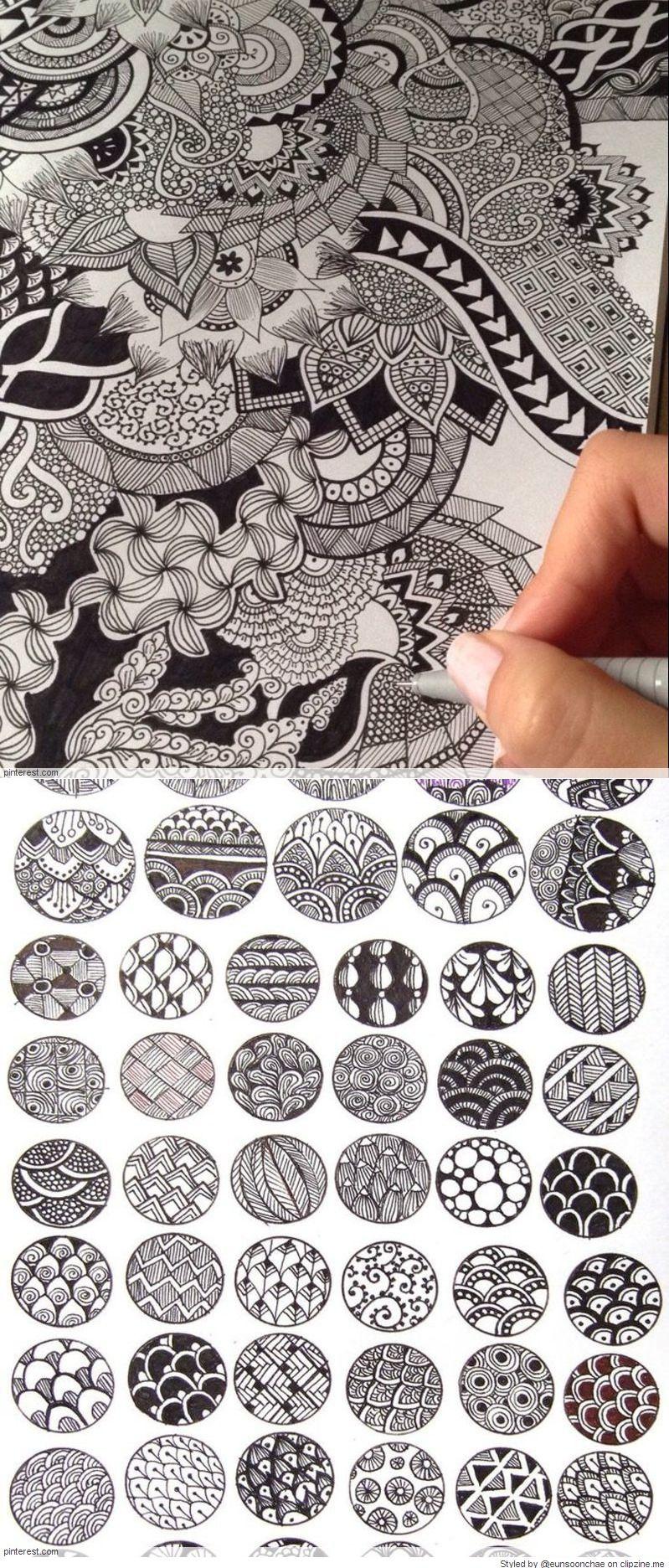 Zentangle Pattern Ideas Interesting Decorating