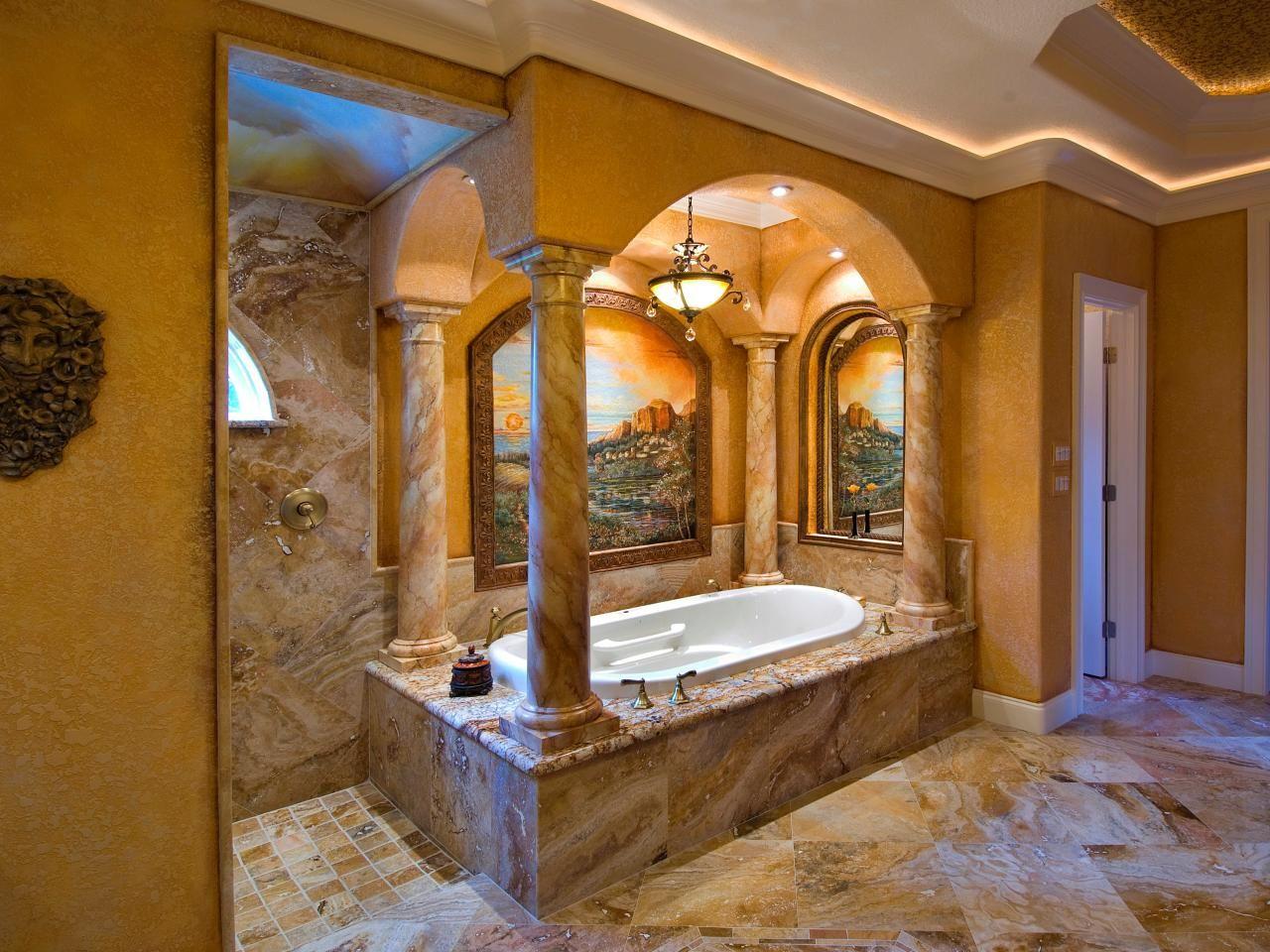 Mediterranean Bathroom Design Prepossessing Rooms Viewer  Hgtv  Home Designs  Pinterest  Tuscan Style Design Inspiration