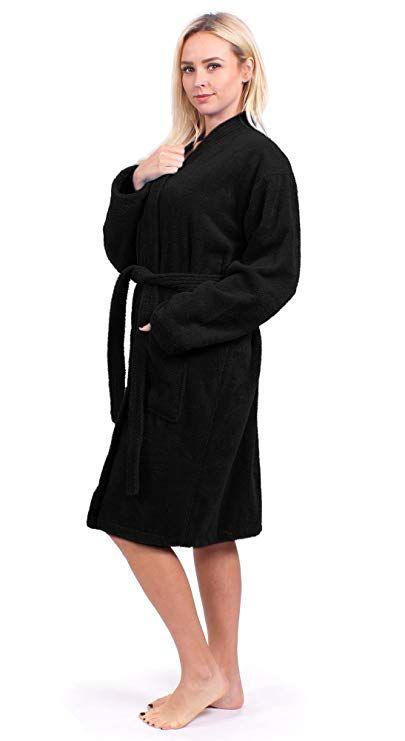 abca86dddf Turkuoise Women s Terry Cloth Robe Turkish Cotton Terry Kimono Collar (Small