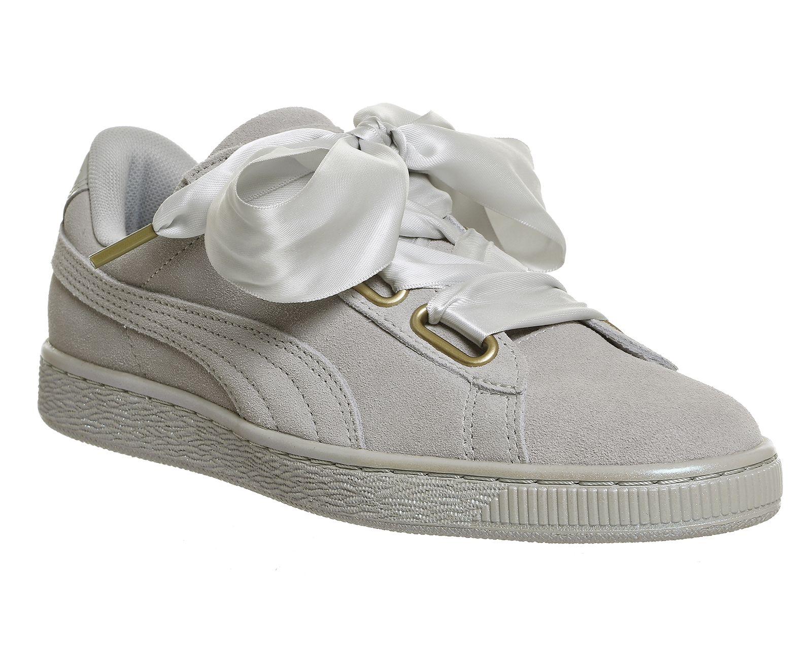 grey suede puma trainers