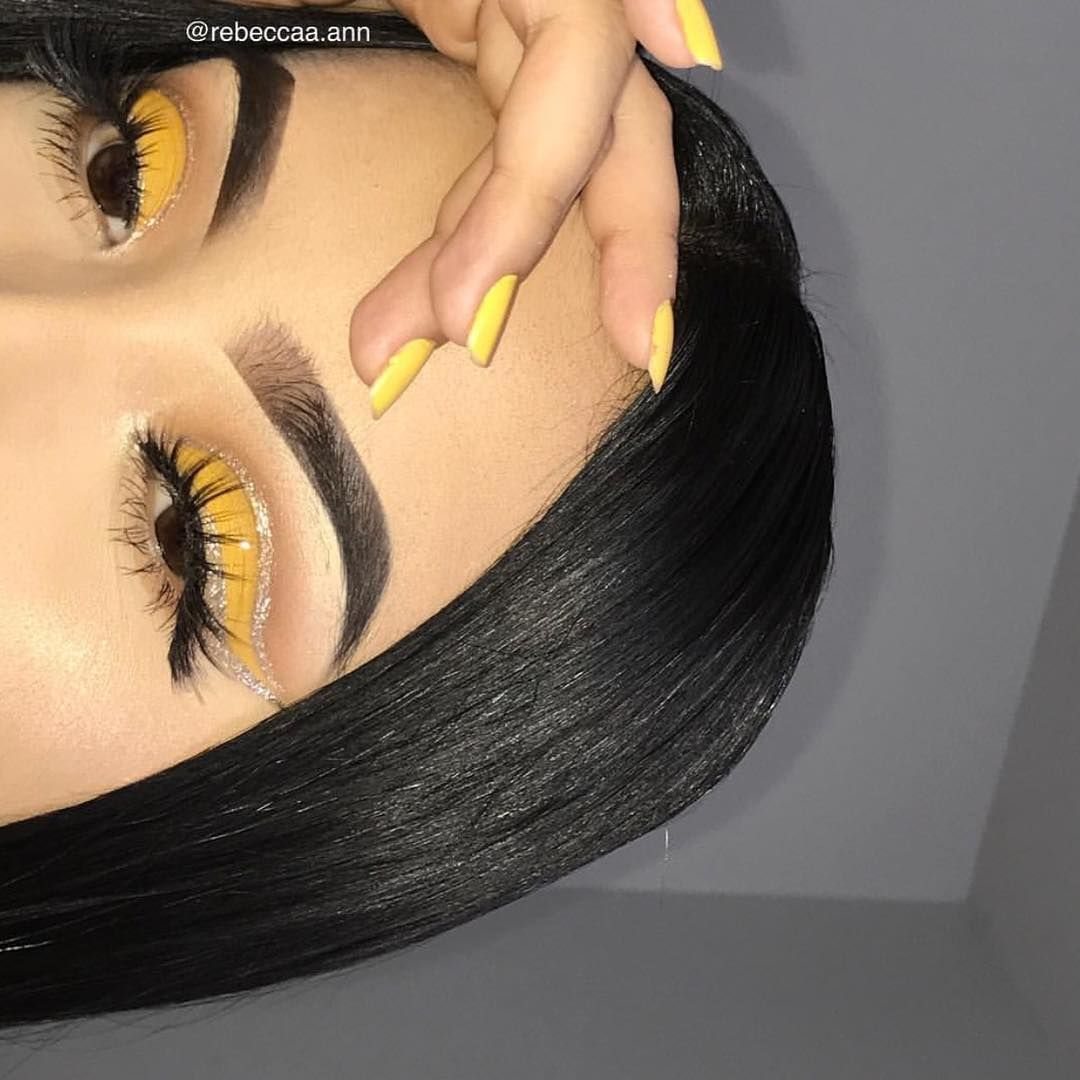 Mybeautymarkmakeupacademy On Instagram Yellow Is Such A Pretty Relaxing Color And We Love It On Our Smoky Eye Makeup Yellow Makeup Yellow Eye Makeup