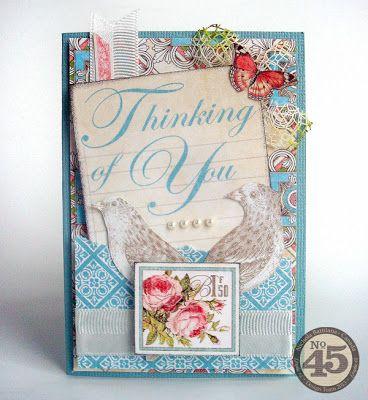 Beautful card - Graphic 45 Botannical Tea - Nichola Battilana at Pixie Hill. Would make a nice alternative Valentine.