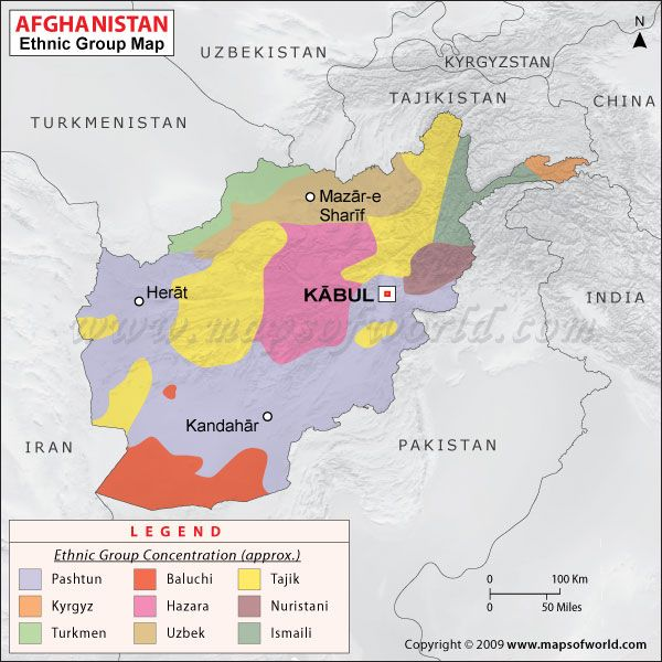 Map of ethnic groups in Afghanistan: The war in Afghanistan has ...