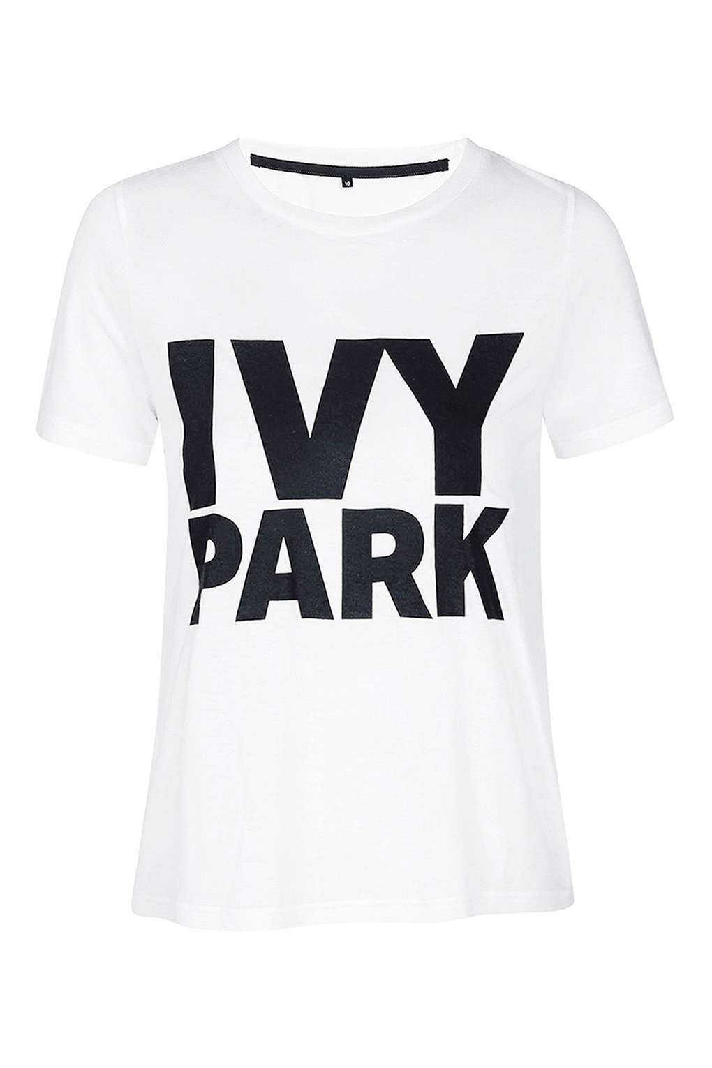 Topshop Womens Logo Crew Neck T-Shirt by Ivy Park -