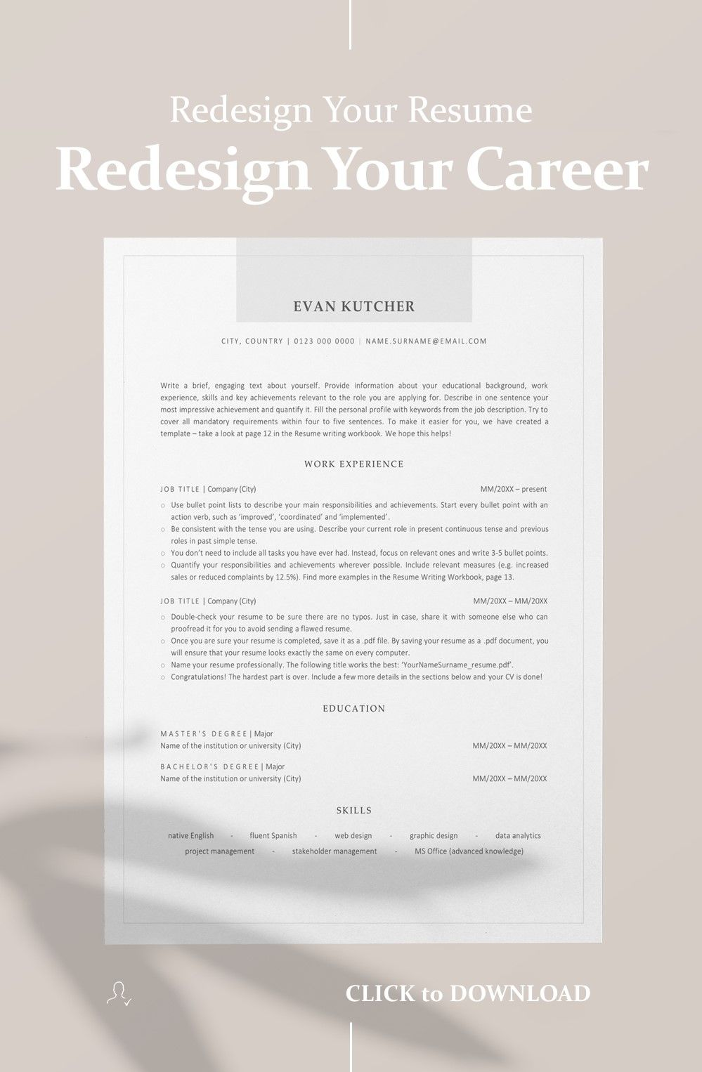 Ats Friendly Resume Template Word