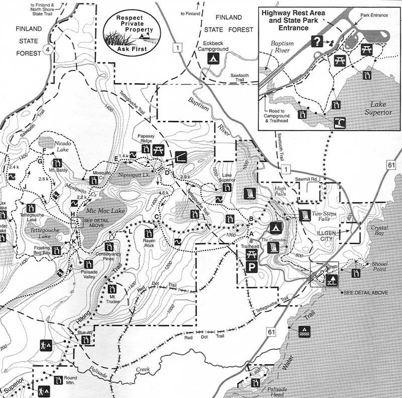 Tettegouche State Park Trail Map Tettegouche State Park Tettegouche State Parks