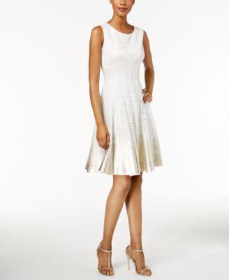 MSK Metallic Ombré Lace Dress  0e29b36a62d0