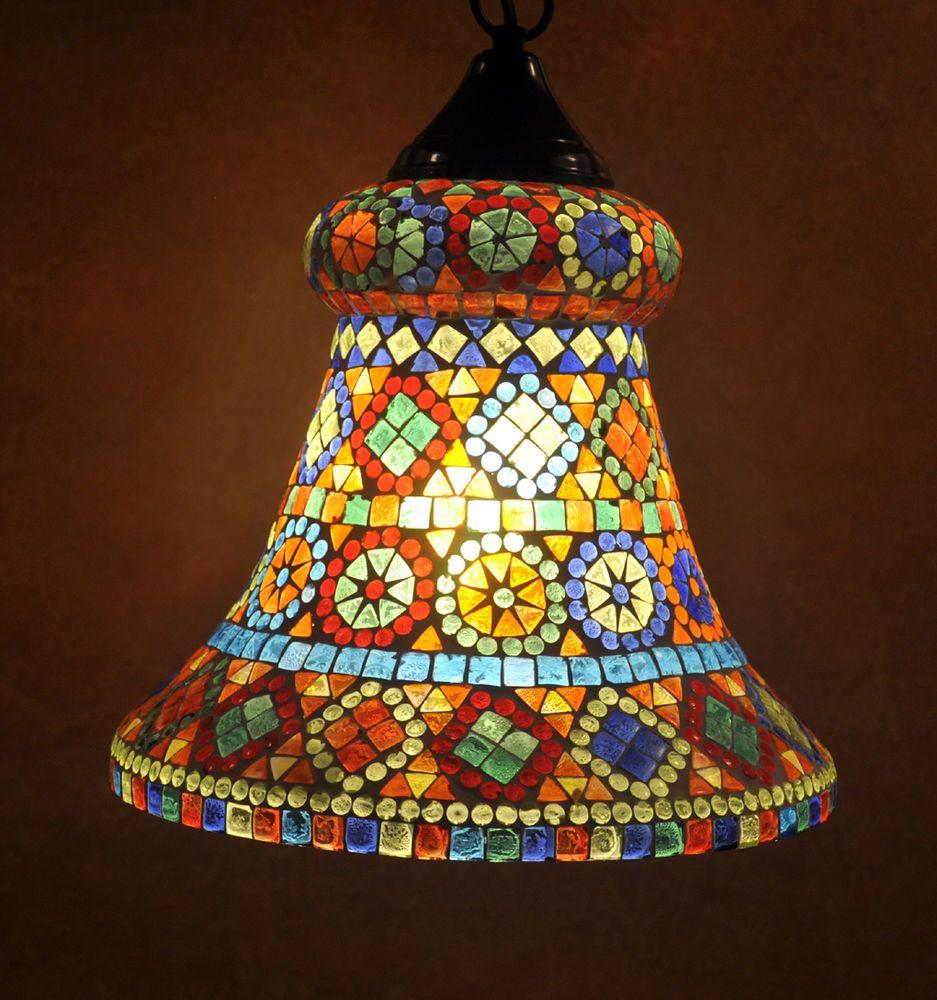 Indian Pendant Ceiling Lamp Christmas Lampshade Sparkling Tiffany Hanging Lamp #Lalhaveli #ArtsCraftsMissionStyle