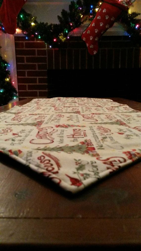 Hand-Made Holiday Table Runner by HomestyleHandmades on Etsy
