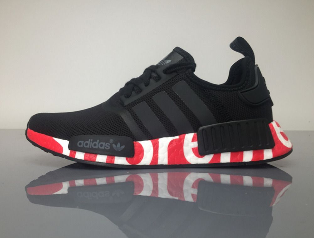 c12aede682f63 norway adidas nmd r1 runner s79165 custom triple black mens size 8uk  clothes shoes 648a5 bc841