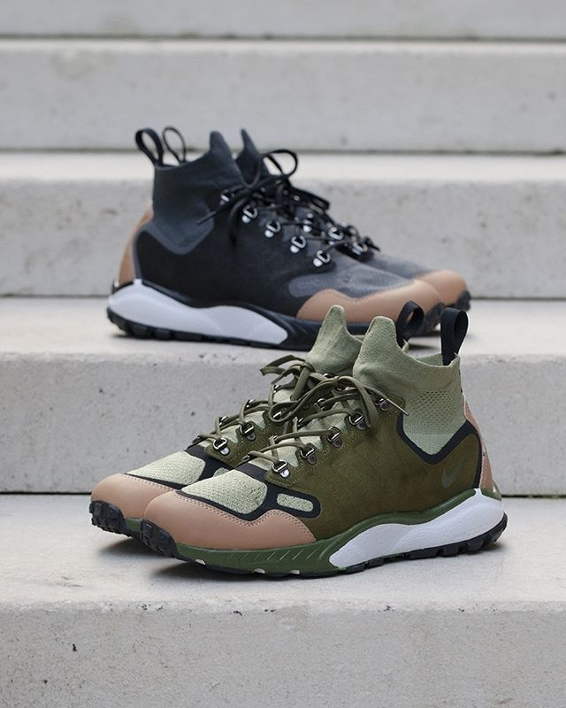 4983969cecab Nike Talaria Mid Flyknit Anthracite Palm Green