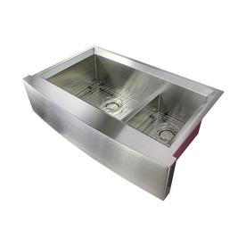 Transolid Studio 35 5 In X 22 In Brushed Stainless Double Basin
