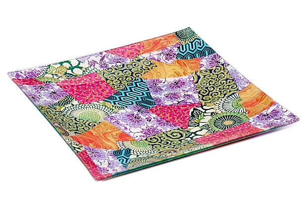 Best 12X12 Jewel Decoupage Tray On Onekingslane Com Decoupage 400 x 300