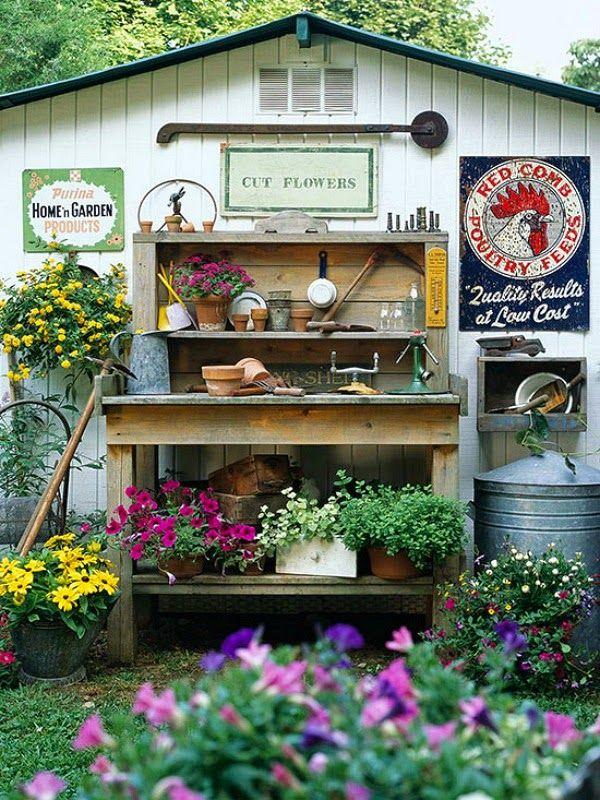Potting Bench Ideas Sunny Simple Life Garden Oasis Pinterest