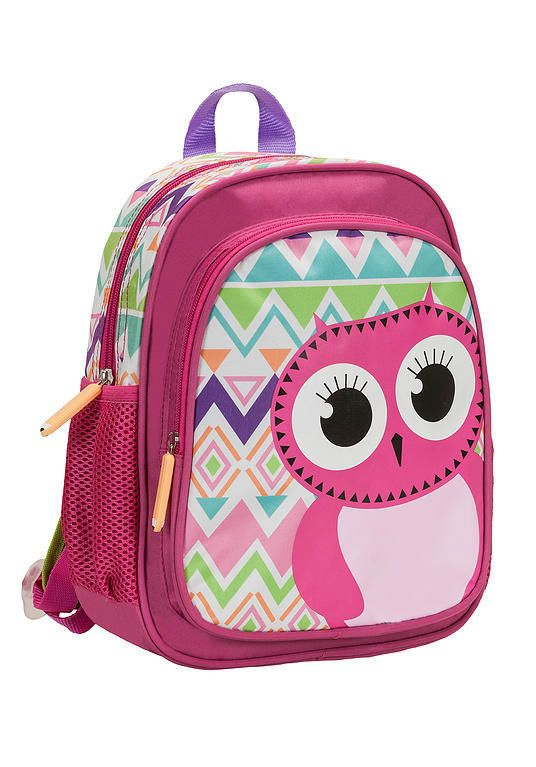 Rockland Kids Backpack Owl School Bag Cute Girls Pink Smart Animal ...