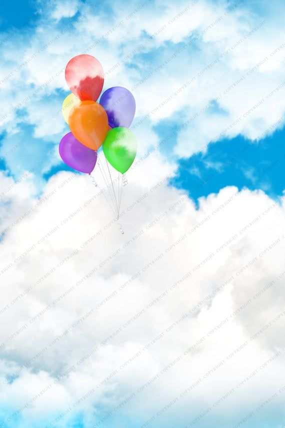 Balloon Background Backdrop for Photographers / Digital Photography / Digital Background / Magical Backdrop / Floating in the Clouds #backdropsforphotographs