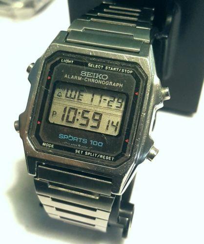 1dd1cfcd978a Vintage Seiko Digital SPORTS 100 LCD A904-509A Alarm Chronograph ...