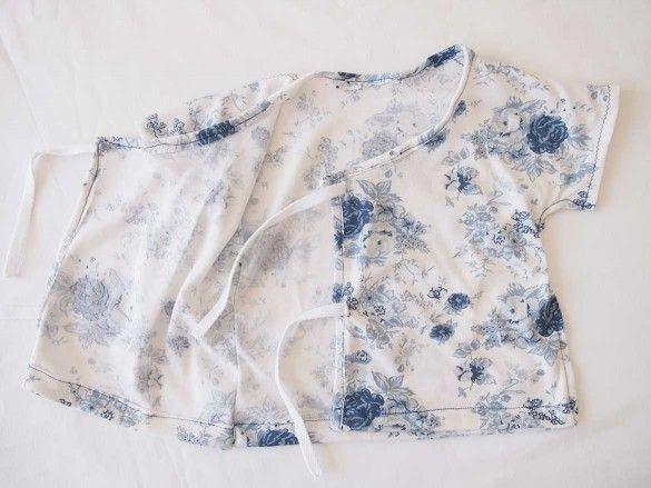 Free Sewing Pattern: Soft and Cosy Baby Kimono | Baby kimono, Sewing ...