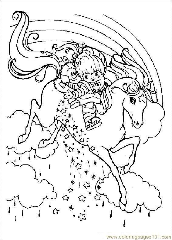 Rainbow Brite Coloring Pages Online Free Printable Coloring Page Rainbow Bright Cartoons Rainbo Horse Coloring Pages Cartoon Coloring Pages Coloring Pages