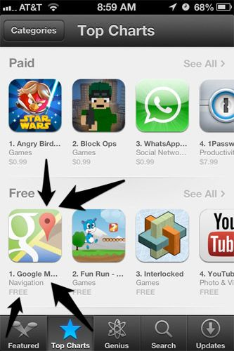 Google Maps notches over 10 million downloads on iOS App